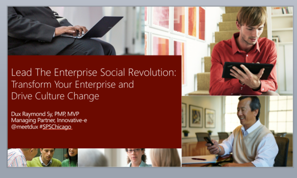 Can't wait to deliver #SPSChicago Keynote: Transform Your Enterprise and Drive Culture Change #esn #yammer