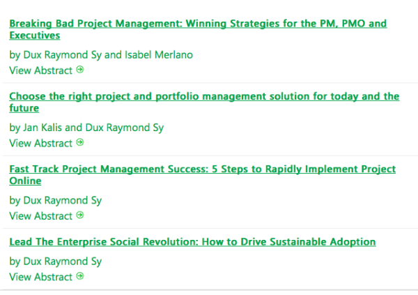 Can't wait to deliver these @Project Conference sessions! #pmot #projconf #esn