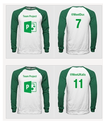 What do you think of these jerseys that @meetjkalis & I will wear for #ProjConf? @project #pmot